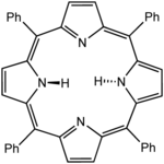 Lewis structure for meso-tetraphenylporphyrin