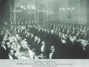 Criterion Restaurant - Royal College of Science Dinner at Criterion, 9 December 1908
