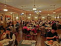 HK Disneyland USA Main Street Halloween night Oct-2013 restaurant interior visitors 02.JPG
