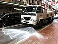 HK Street cleaning 碧瑤 Baguio Trucker water tank at work Oct-2013 蘇杭街 Jervois street.JPG