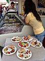 HK Wine & Dine 香港美酒佳餚巡禮 West Kln Waterfront Promenade booth food on sale Nov-2012.JPG