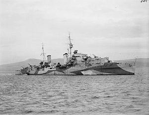 HMS Scylla (98) - Image: HMS Scylla 1942 IWM FL 2932