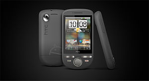 HTC Tattoo - Image: HTC Tattoo black