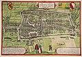 HUA-214001-Plattegrond van de stad Utrecht met directe omgeving met weergave van het stratenplan wegen watergangen de bebouwing in vogelvlucht en het grondgebrui.jpg