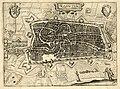 HUA-214014-Plattegrond van de stad Utrecht met directe omgeving; met stratenplan wegen en watergangen en gestileerde weergave van de bebouwing en het grondgebrui.jpg
