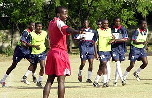 Haiti national football team training in Port-au-Prince 2004-08-16 2