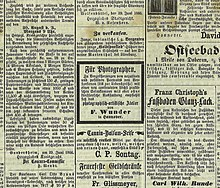 Zeitungsanzeigen bekanntschaften