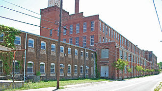 Cleveland, Tennessee - Old Hardwick Woolen Mills factory building in Cleveland, Tennessee.