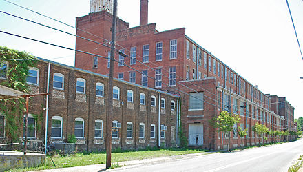 Old Hardwick Woolen Mills Factory Building In Cleveland, Tennessee