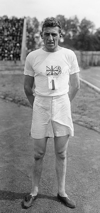 Track spikes - 1924 Olympic 100 m champion Harold Abrahams wearing J.W. Fosters pioneering running spikes.