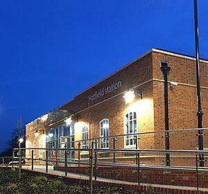Hatfield railway station - The entrance at Hatfield station