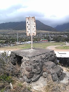Hawaii Territorial Survey LUKE survey marker Wailuku Maui HI.jpg