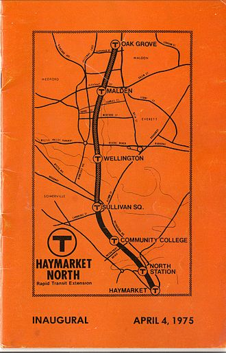 Haymarket North Extension - Flier from the inaugural run of the first section in April 1975