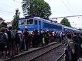 Heřmaničky, nádraží, PPP 2015, příjezd vlaku na Tábor.jpg