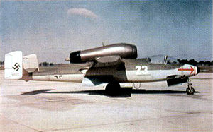 Jagdgeschwader 1 (World War II) - An ex-JG1 He 162. This aircraft was taken to the United States and used in post-war trials.