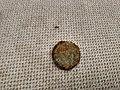 Heavily damaged 1 Euro-cent coin, Winschoten (2018) 02.jpg