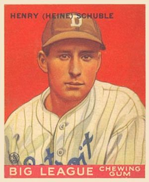 Heinie Schuble - Heinie Schuble baseball card, 1933