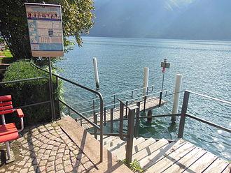 Società Navigazione del Lago di Lugano - The SNL landing stage at the Museo Heleneum.