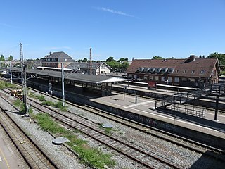 railway station in Copenhagen Municipality, Denmark