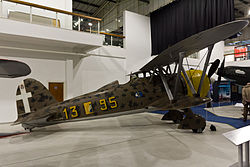 Fiat CR.42 der Regia Aeronautica im Royal Air Force Museum in Hendon bei London