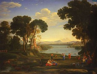 Landscape with a Watermill and Dancing Figures