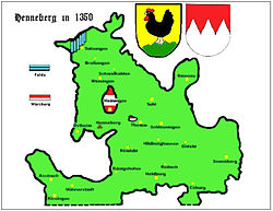 County of Henneberg around 1350