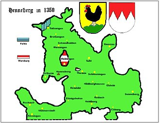 House of Henneberg - County of Henneberg around 1350