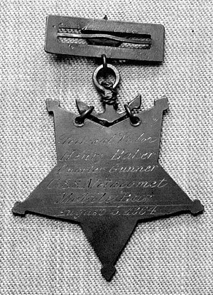 Charles Baker (Medal of Honor) - Reverse of Baker's Medal of Honor
