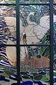Henry carot su cartone di albert besnard, vetrata con cigni sul lago d'annecy dalla casa del pittore henry lerolle a parigi, 1890, 03.JPG