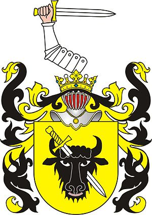 Rula Lenska - Łubieński family coat of arms