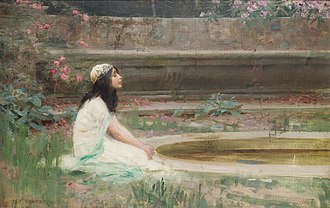 Herbert James Draper - Image: Herbert James Draper, A Young Girl by a Pool