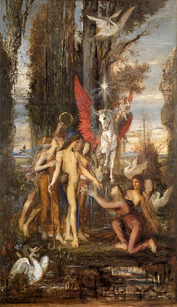Hesiod and the Muses by Gustave Moreau