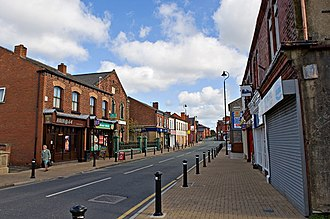 Golborne - Image: High Street, Golborne