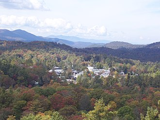 Highlands, North Carolina - The town of Highlands as seen from Sunset Rock.