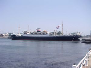 Hikawa Maru-class ocean liner - Image: Hikawamaru JP14Apr 05