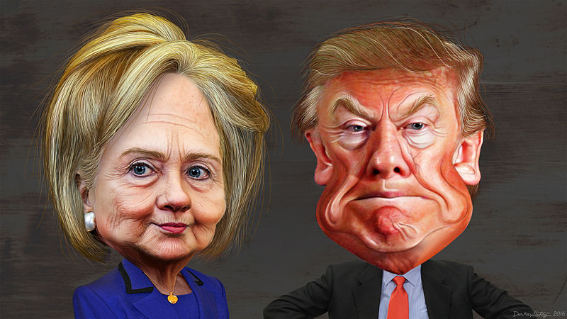 File:Hillary Clinton vs. Donald Trump - Caricatures.jpg