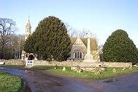 Holwell parish church and war memorial - geograph.org.uk - 296595.jpg