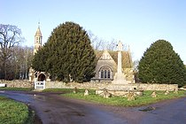 Holwell parish church and war memorial - geograph.org.uk - 296595.jpg