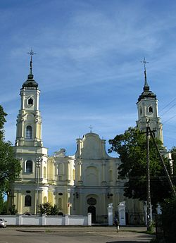 Holy Trinity church in Kobyłka.JPG