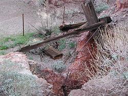 Homestake Nevada mine shafts.JPG