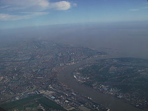 Baoshan District, Shanghai - The mouth of the Huangpu River