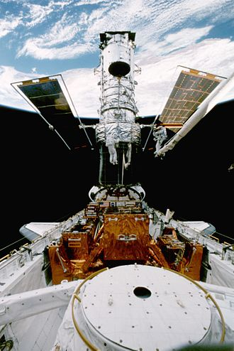 STS-82 - Image: Hubble servicing sts 82