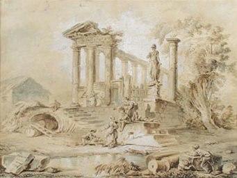 Hubert Robert - Vista arqueológica