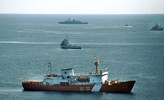 Canadian Coast Guard Vessel Henry Hudson searches for Swissair Flight 111 debris Hudson03.jpg