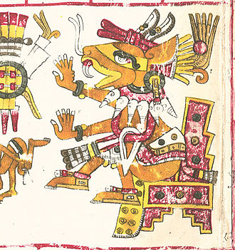 Huēhuecoyōtl - Huehuecoyotl in the Codex Borgia.