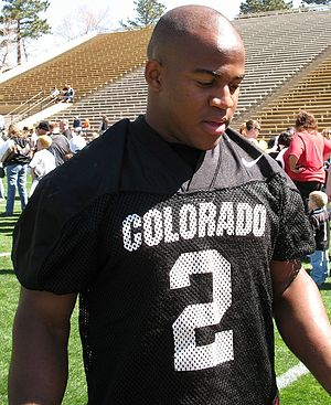2006 Colorado Buffaloes football team - Hugh Charles before the 2007 spring game, April 14, 2007.