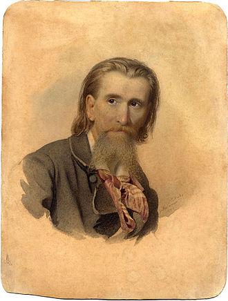 Kārlis Hūns - Self-portrait (1864)