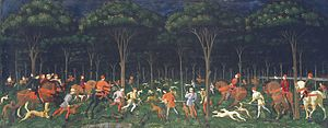 Hunt in the forest by paolo uccello.jpg