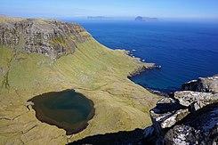 Meer op Suðuroy, het zuidelijkste eiland van de Faeröer