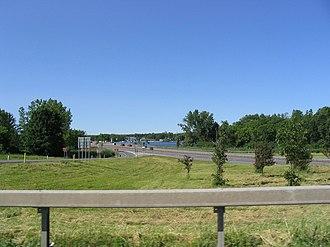 Brewerton, New York - Interstate 81 cutting through Brewerton near Oneida Lake